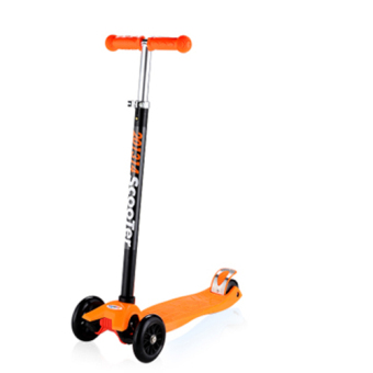 Harga CMAX Height Adjustable Kids Scooter with Flashing LED Wheels (Orange)