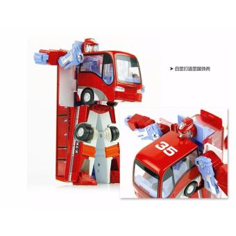 Harga The deformation caused by bus autobots alloy car boy children toy car bus model - intl