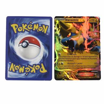 Hequ 25pieces/set Pokemon Cards Playing Game Card Toys For Kids Random Send Poker ex card With metal Box random color - intl
