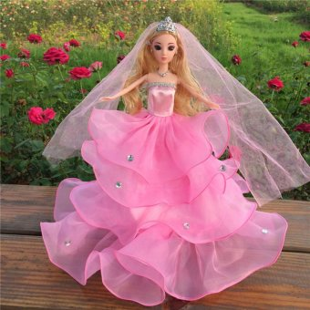 Harga Pop Fashion Handmade Clothes Dress For Barbie Doll Different Style Pink - intl