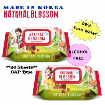 Harga Natural Blossom Baby Wet Wipes 80s - 1 Packet