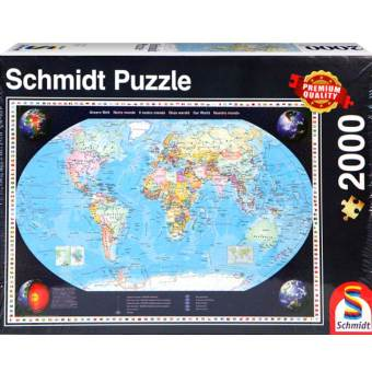 Harga Schmidt Simita German imports adult jigsaw puzzle 2000 piece world map 57041