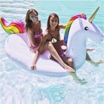 Unicorn Swimming Float Swan Inflatable Boat - intl