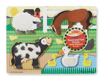 Harga Melissa and Doug Touch and Feel Puzzles Farm