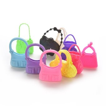 Harga Colorized Morden Doll Bags For Barbie Mix Styles 10Pcs - intl