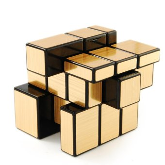 Harga Shengshou Mirror Blocks Puzzle 3x3 Golden Mirror puzzle speed Cube - intl