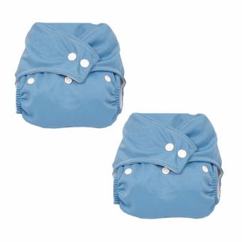 Harga PAlight 2pcs Baby Washable Cloth Diaper Nappy (Blue)