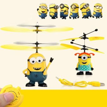 Harga Despicable ME Flying Minion Sensor +Remote Control Mini RC Helicopter Toys