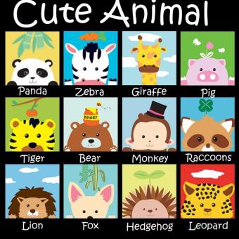 Kids Oil Painting Set - Cute Animal Series (Set of 12)