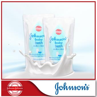 Harga Johnson's Baby Milk+Rice Bath Refill 600ml x 2pcs