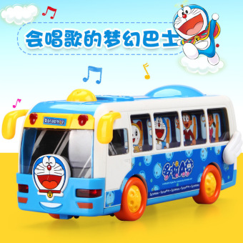 Harga Doraemon inertia bus car child cartoon toy car electric music lights universal school bus toy car