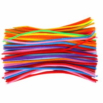 Harga Hequ 100pcs Plush Sticks Children's Educational DIY materials shilly-stick Toys handmade art and craft Multicolor - intl