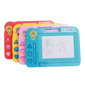 360WISH Doodle Sketch Learning Toy Erasable Colorful Plastic Magnetic Drawing Board (Color model) - Random Color