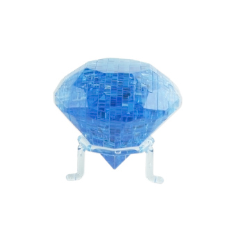 Harga Coolplay 3D Crystal Puzzle Diamond Shaped Model Kids DIY Building Toy blue - intl