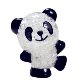Harga 3D Crystal Puzzle Jigsaw Model Diy Panda Intellectual Toy Gift Black