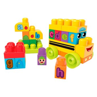 Harga MEGA BLOKS® First Builders ABC Spell School Bus
