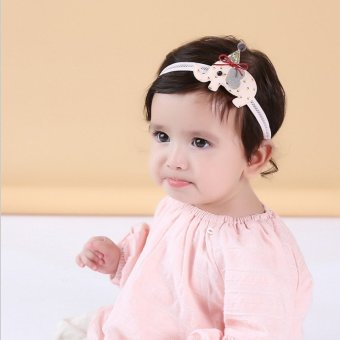 Harga South korean version of the tabaci birthday baby head flower hair band cute baby headwear children hair accessories princess headband