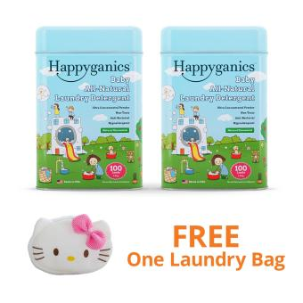 Happyganics Baby All-Natural Laundry Detergent 1.5kg (Natural x 2) and FREE Hello Kitty Laundry Bag