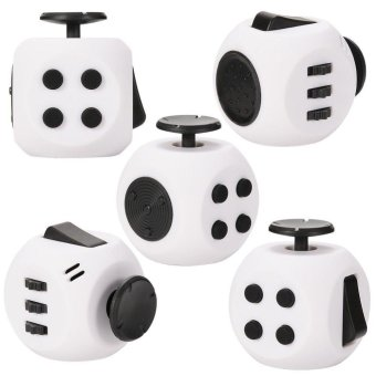 Magic Cube Express Round Fidget Cube Toy&Black - intl