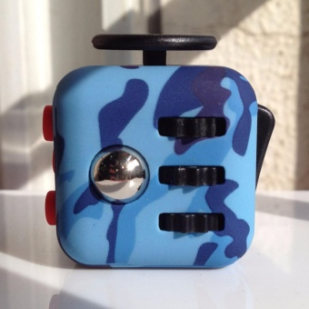 Harga Camouflage Pattern Fidget Cube Toy Magic Anti-anxiety Adults Stress Relief Kids Gift - intl