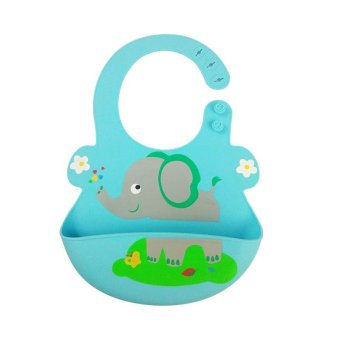 Harga Waterproof Soft Silicone Baby Bib Easily Wipes Clean! Comfortable Soft Baby Bibs Keep Stains Off - intl