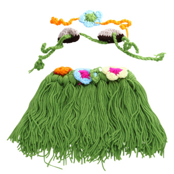 Newborn Baby Cartoon Hula Style Crochet Photography Prop