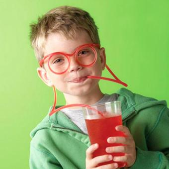 Harga Funny Plastic DIY Drinking Straw Eyeglasses Silly Straw Clear