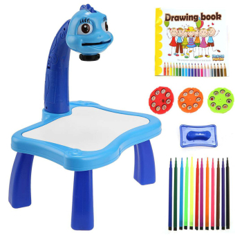 Harga Cyber Arshiner Children Kids Boy Girl Multifunctional Educational Development Drawing Painting Toy Fun Learning Desk Set (Blue)