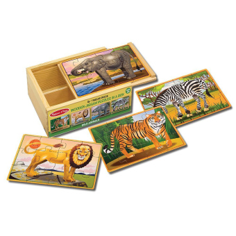 Harga Melissa and Doug Wild Animals Puzzles in a Box