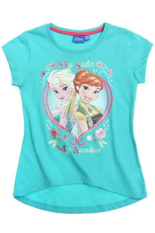 Harga Disney Frozen Anna and Elsa Short Sleeved T-Shirt (Teal)