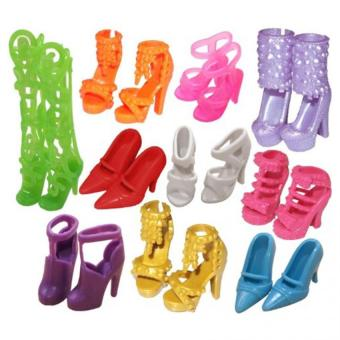 Harga 10 Pairs of Doll Shoes Fit Barbie Dolls