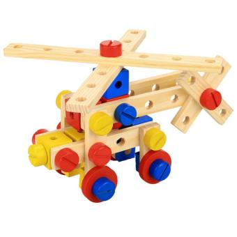 Harga Cyber Arshiner Baby 78 PCS Multi Functional Wooden Nuts and Bolts Combination Toys Building Construction Set
