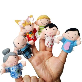 Harga 6 Pcs Finger Even Storytelling Good Toys Hand Puppet For Baby's Gift - intl