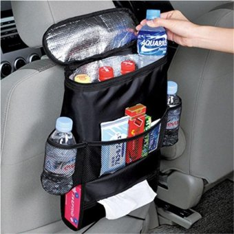 Harga Hang-Qiao Multifunction Car Seat Back Storage Bag (Black) - intl