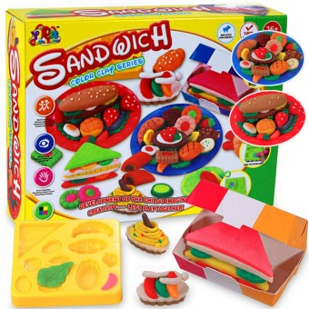 Harga Kids Gift Play Dough Mold Set Healthy Sandwich Mode Soft Clay Plasticine Toys