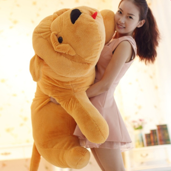 Harga 1.2 m lying dog large plush toy doll large dog pillow sharpei dog doll