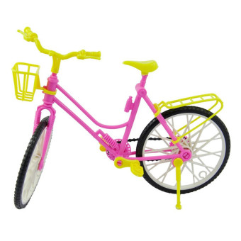 Harga E-TING Plastic Detachable Bike Bicycle With Basket For Barbie Doll Accessories