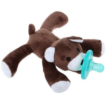 Harga Cartoon Cute Infant Appease Baby Pacifiers Stuffed Animal Silicone Wubbanub Cuddly Soft Plush Toy Deep Brown - intl