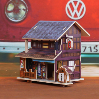 Harga Robotime technology British style wooden hut Villa 3D three-dimensional puzzle model DIY children's handmade Production