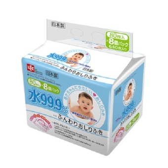 Harga LEC (Everyday) 99.9% Pure water Baby Wipes (80s x 8)