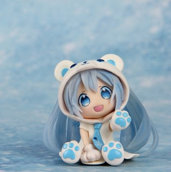 Harga 3.1inch Action Figure Hatsune Miku White Bear Sexy Lovely Cute Cartoon Doll Box-packed Japanese Anime Figurine
