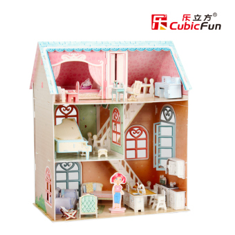Harga Cubicfun 3D three-dimensional puzzle DIY Hut House puzzle model children's toys handmade birthday gift