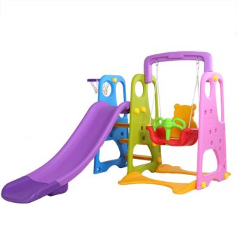 Harga NaVa DIY Children Slide and Swing with Basketball net for Indoor and Outdoor