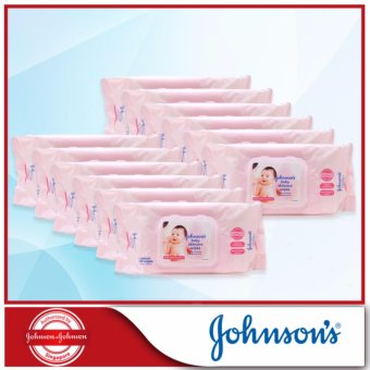 Harga Johnson's Baby Skincare Wipes Fragrance Free 75s x 12 packs