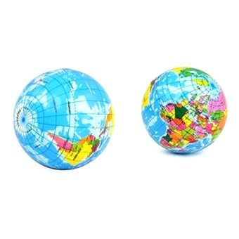 Harga Stress Relief World Map Foam Ball Atlas Globe Palm Ball Planet Earth Ball - intl
