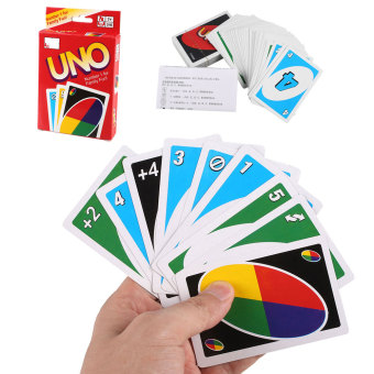 Standard UNO Cards 108 Family Friends Kids Children Fun Playing Game Toy