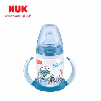 Harga NUK First Choice Smurfs Learner Bottle 150ml with spout (6-18m)