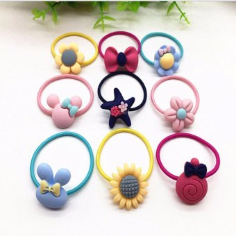 Harga 25pcs price Baby Toddler Hairclip Kids Children Accessory Girls Bunny Hair Clips Hair Band Accessories Clip Elastic Bands - intl