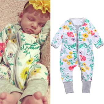 Harga Baby lily Baby Boys Girls Romper Colorful Flower One-Pieces Bodysuits - intl