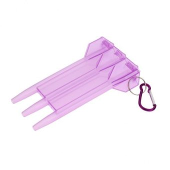 Harga BolehDeals Portable Nylon Dart Storage Box Transparent Dart Case with Lock Buckle Light Purple - intl